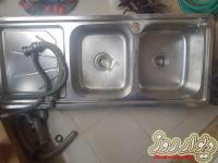 سینگ ظرفشویی استیل همراه با جامایعی